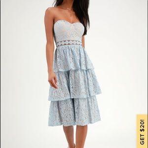 Lulus strapless dress